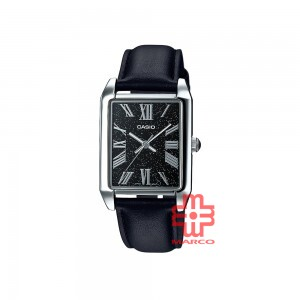 Casio General MTP-TW101L-1A Black Leather Band Men Watch