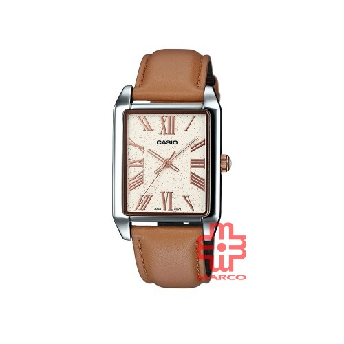 Casio General MTP-TW101L-7A Brown Leather Band Men Watch