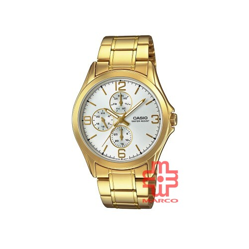 Casio General MTP-V301G-7A Gold Stainless Steel Band Men Watch