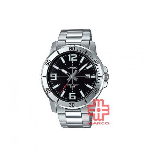 Casio General MTP-VD01D-1BV Stainless Steel Band Men Watch
