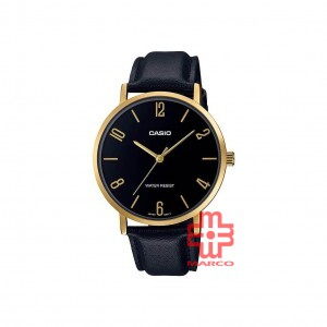 Casio General MTP-VT01GL-1B2 Black Leather Band Men Watch