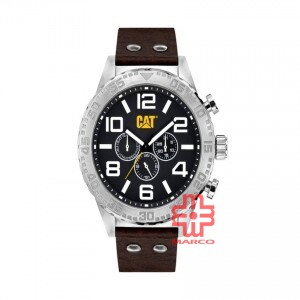 CAT CAMDEN DATE 52MM NH-149-35-131 BROWN LEATHER STRAP MEN WATCH
