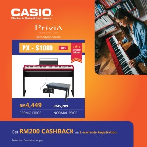 CASIO PX-S1000RD Red Privia Digital Piano (Full Package)
