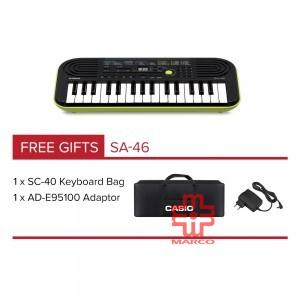 CASIO SA-46 Mini Keyboard 32 Mini Keys [ Free Adaptop + Keyboard Bag]