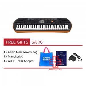 CASIO SA-76 Mini Keyboard 44 Mini Keys [ Free Adaptor + Keyboard Bag]