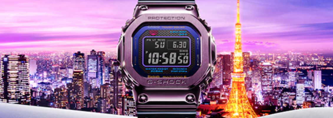 New Release Two-Tone, Purple and Blue Metal G-SHOCK